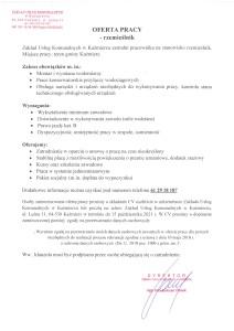Oferta pracy - rzemieślnik